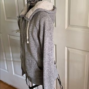 Cozy  soft grey sweater hoody